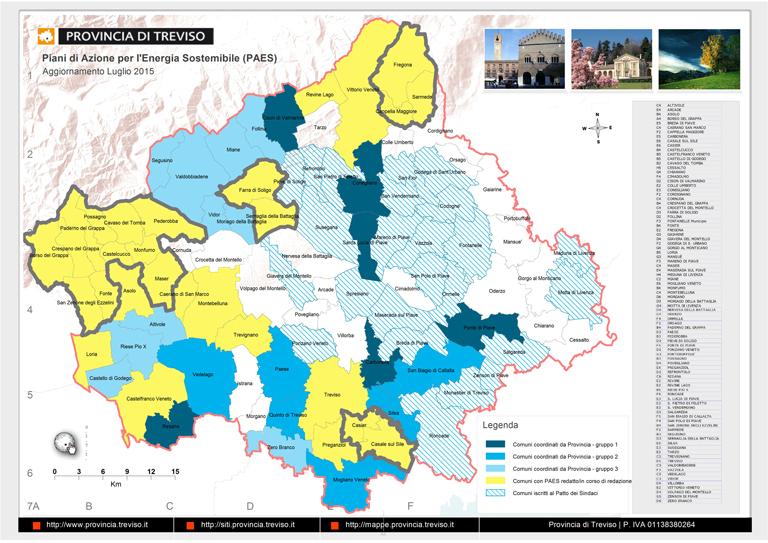 Mappa dei Comuni che hanno aderito al Patto dei Sindaci